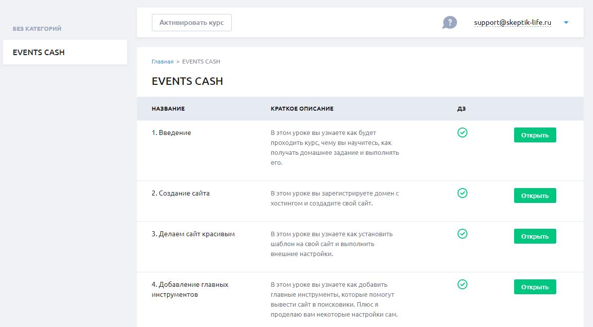 курс прибыльные события отзывы